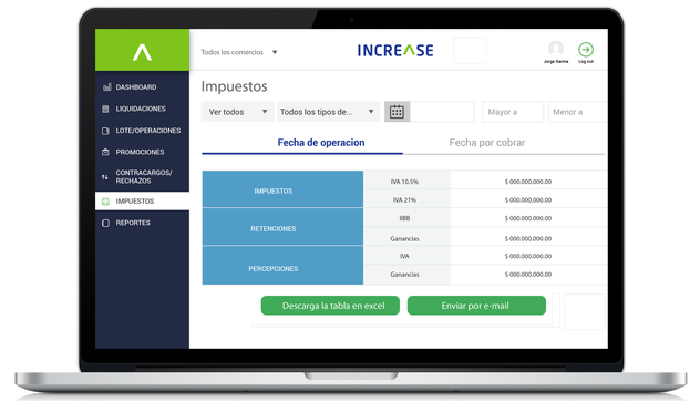 Increase controla tus ventas