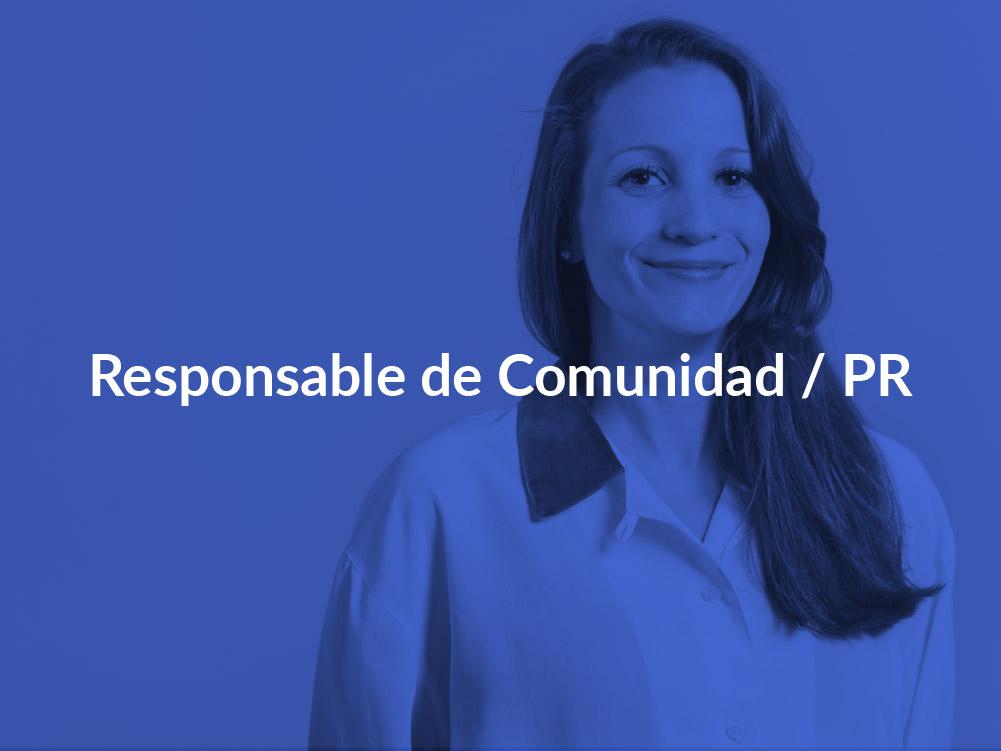 Responsable de Comunidad / PR