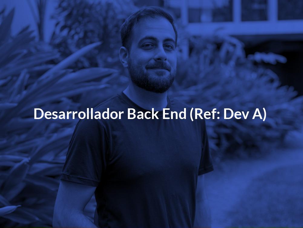 Desarrollador Back End